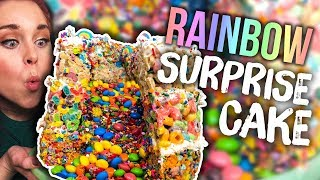 No-Bake UNICORN Piñata Surprise Cake! (What the Flavor)