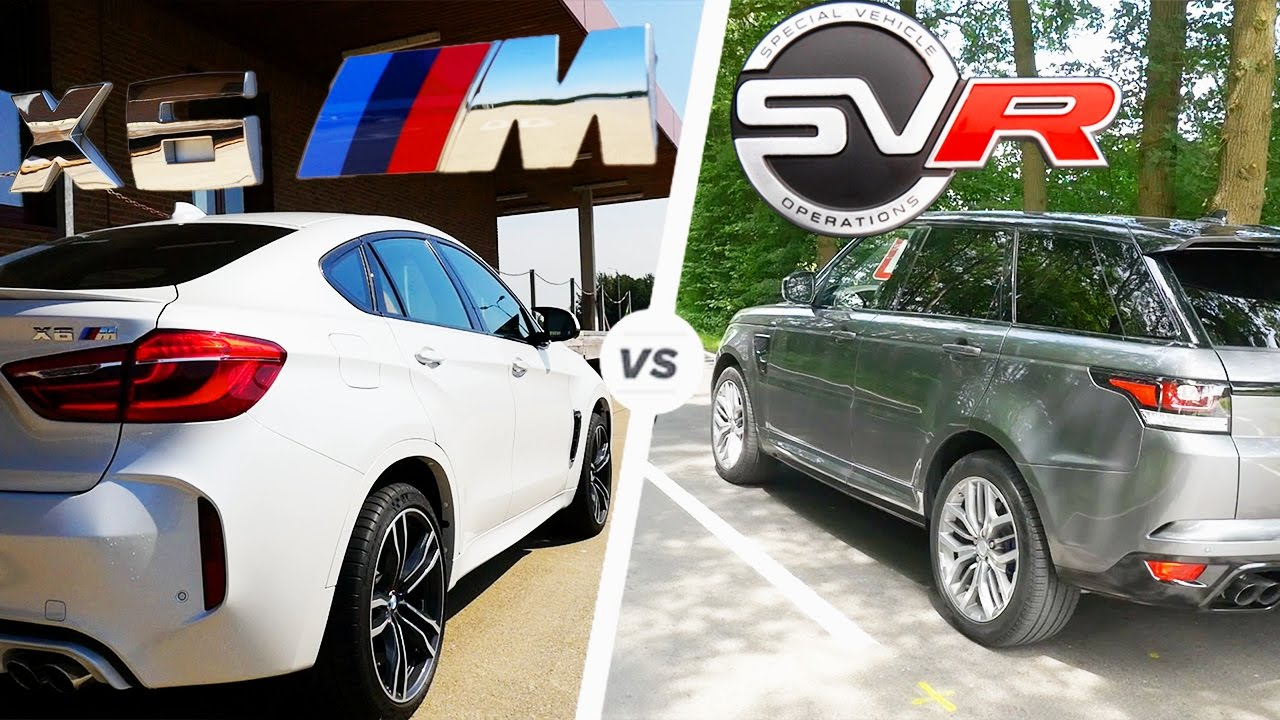 Bmw X6 M Vs Range Rover Sport Svr Acceleration Pov Autobahn Top Sd Exhaust Sound
