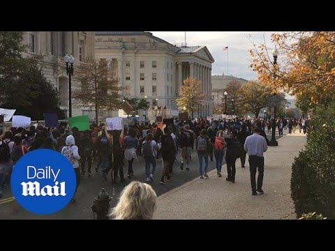 Anti-Trump demonstrators rally at Supreme Court in Washington DC - Daily Mail
