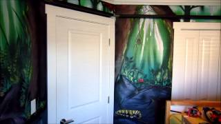 Forest Bug Mural In Kids Room