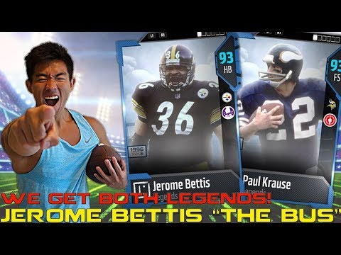 """THE BUS"" JEROME BETTIS IS A BEAST! PAUL KRAUSE IS THE PICK GOD! Madden 18 Ultimate Team"