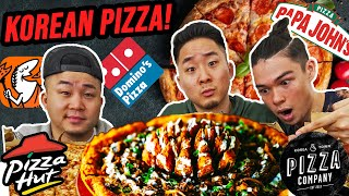KOREAN PIZZA vs AMERICAN PIZZA (Who has the BEST pizza?) | Fung Bros