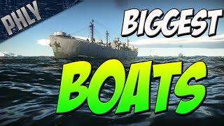 BIGGEST BOATS YET (War Thunder Naval Forces Gameplay)