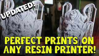 Perfect Prints on ANY Resin Printer! UPDATED!