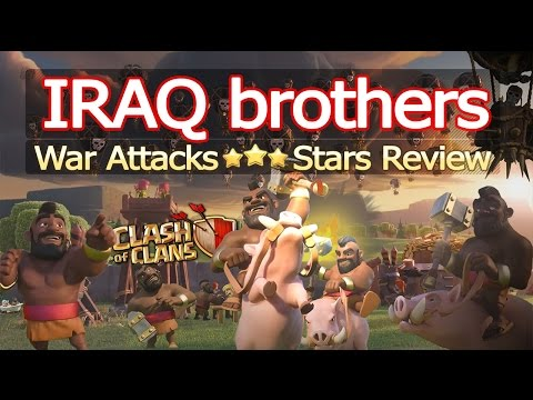 Clash Of Clans - [IRAQ brothers] Vs [SwordDrivers NL] War Attacks 3 Stars Review