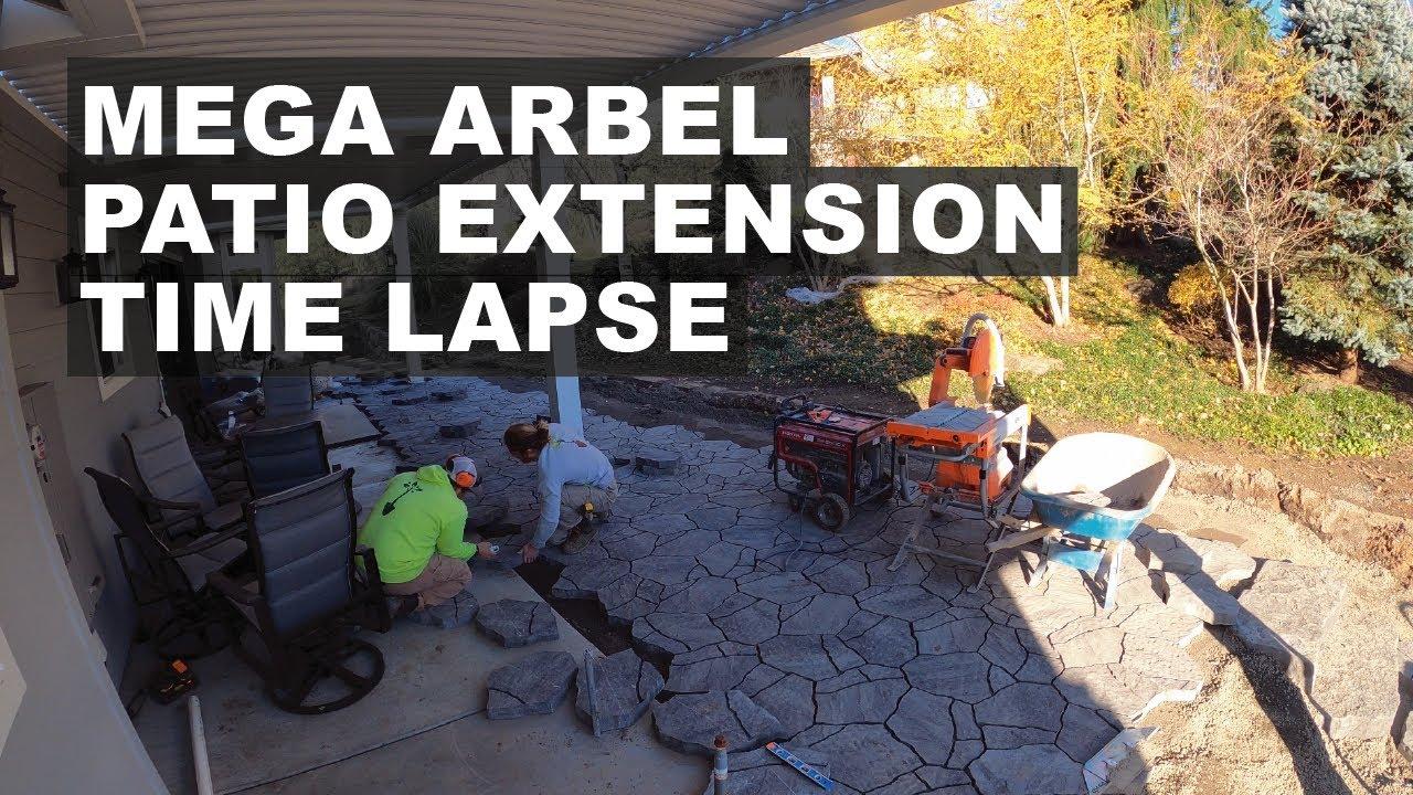 Mega Arbel Patio Extension Time Lapse