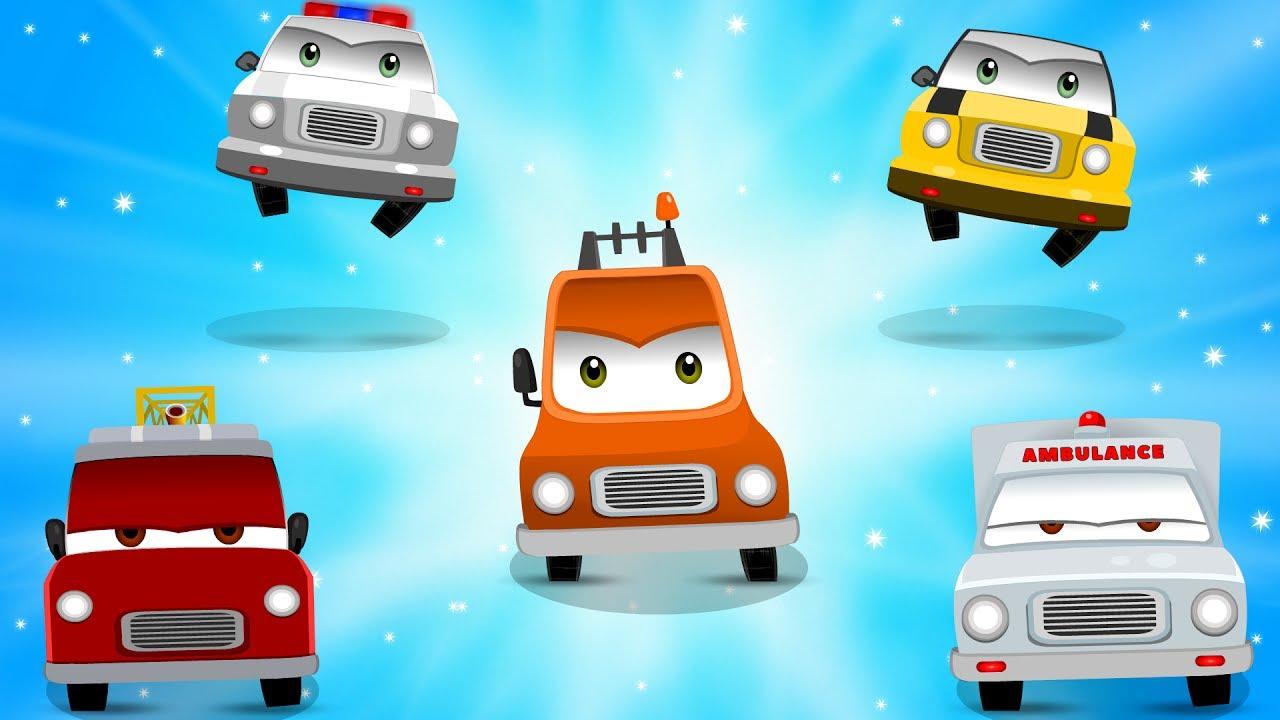 Street Vehicles Finger Family Song | Car Songs | Nursery ...