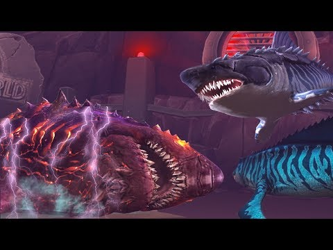 MEGALODON, MOSASAURUS DEFEAT COLOSSUS 04 ||  Jurassic World The Game
