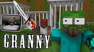 Monster School : GRANNY REVENGE HORROR GAME - Minecraft Animation