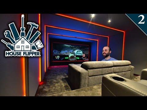 UNA CASA CON SALA DE CINE!   HOUSE FLIPPER Gameplay Español