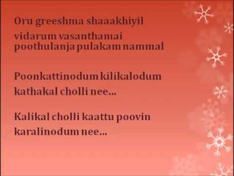 Poonkattinodum Kilikalodum Lyrics