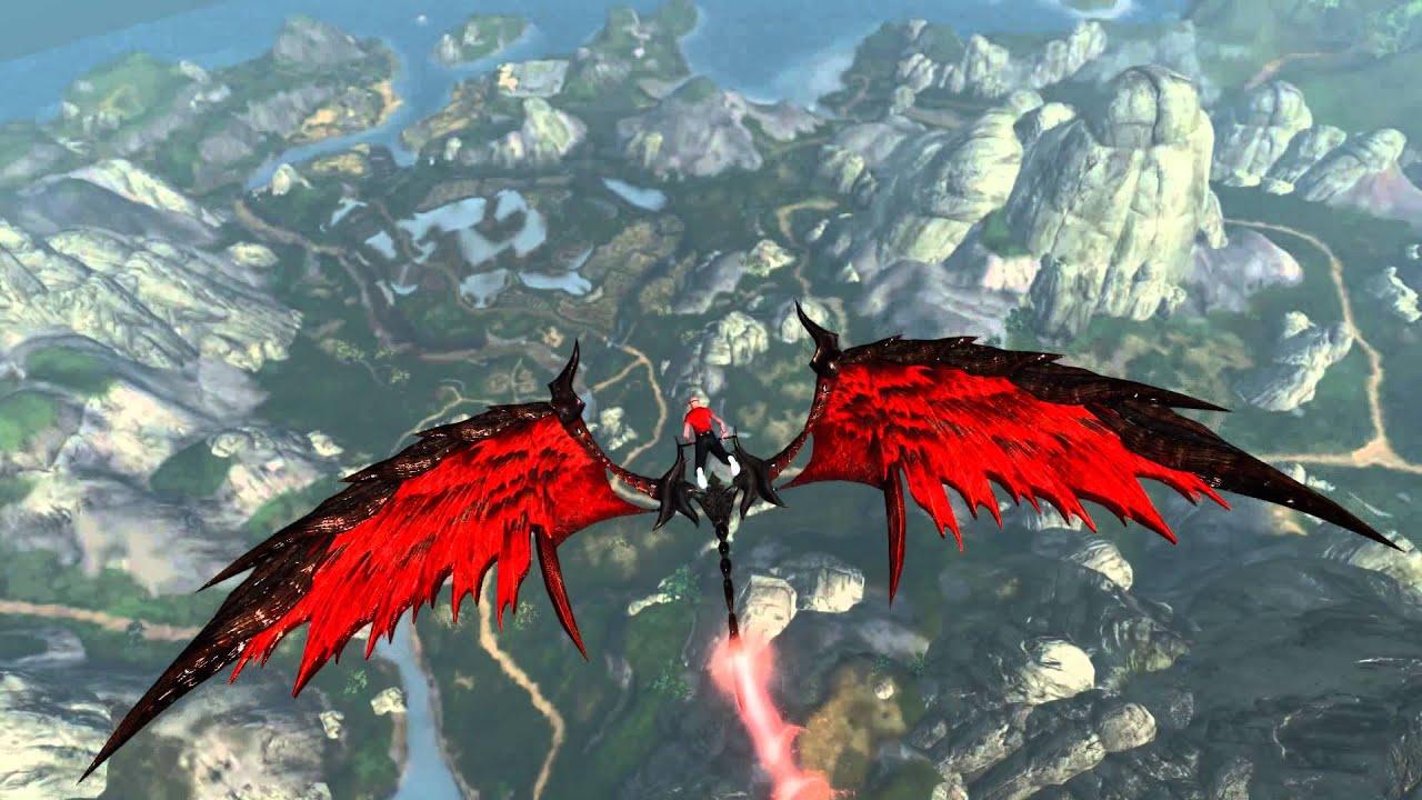 Archeage: free fall (Red Dragon Glider)