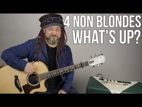 """4 Non Blondes """"What's Up"""" Guitar Lesson - """"What's Going On"""" 90's Songs"""