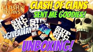 Clash of Clans | Clash of Clans Sent Me GIFTS! Unboxing! PLUS GIVEAWAY WINNER!!