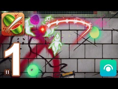 Fruit Ninja - Gameplay Walkthrough Part 1 - Ghostbusters (iOS, Android)