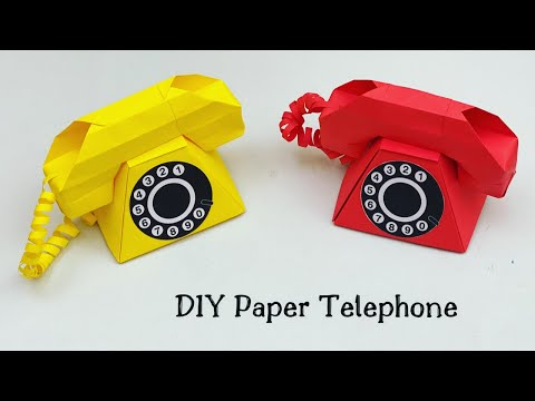DIY HOW TO MAKE PAPER TELEPHONE / Paper Craft / paper Telephone / Origami Telephone/ Paper Craft New