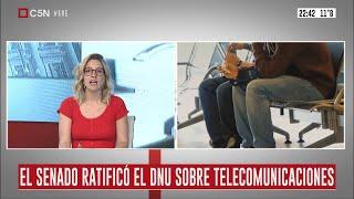 El Senado ratificó el DNU sobre telecomunicaciones