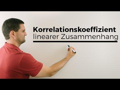 Korrelationskoeffizient, linearer Zusammenhang | Mathe by Daniel Jung, Erklärvideo