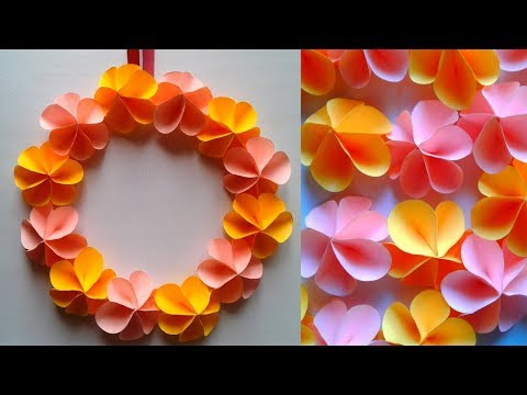 Wall decoration - Flower Wall hanging | Wall hanging craft with paper flowers || SUNIL CREATION
