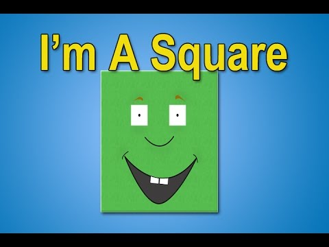 The Square Song | I'm A Square | Shapes Songs | Square Shape | Educational Songs | Jack Hartmann