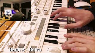 ALL NEW microKORG S - ALL 64 sounds previewed of Bank A.