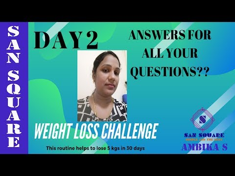 Weight loss Challenge | Day 2 Weight loss diet | Answers for your questions | Complete diet in tamil thumbnail