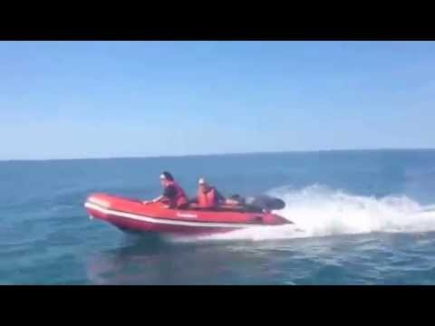 Bombard 380 Aerotec at Top Speed Mariner 25hp 2 Stroke