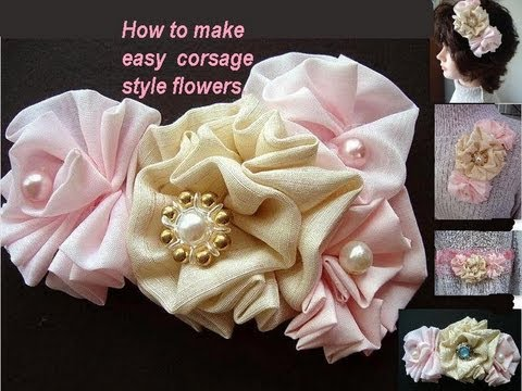 How To Make Corsage Style Fabric Flowers
