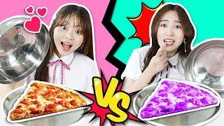挑战到底是普通食物呢还是彩色食物呢?!Colored Food Challenge 小伶玩具 | Xiaoling toys