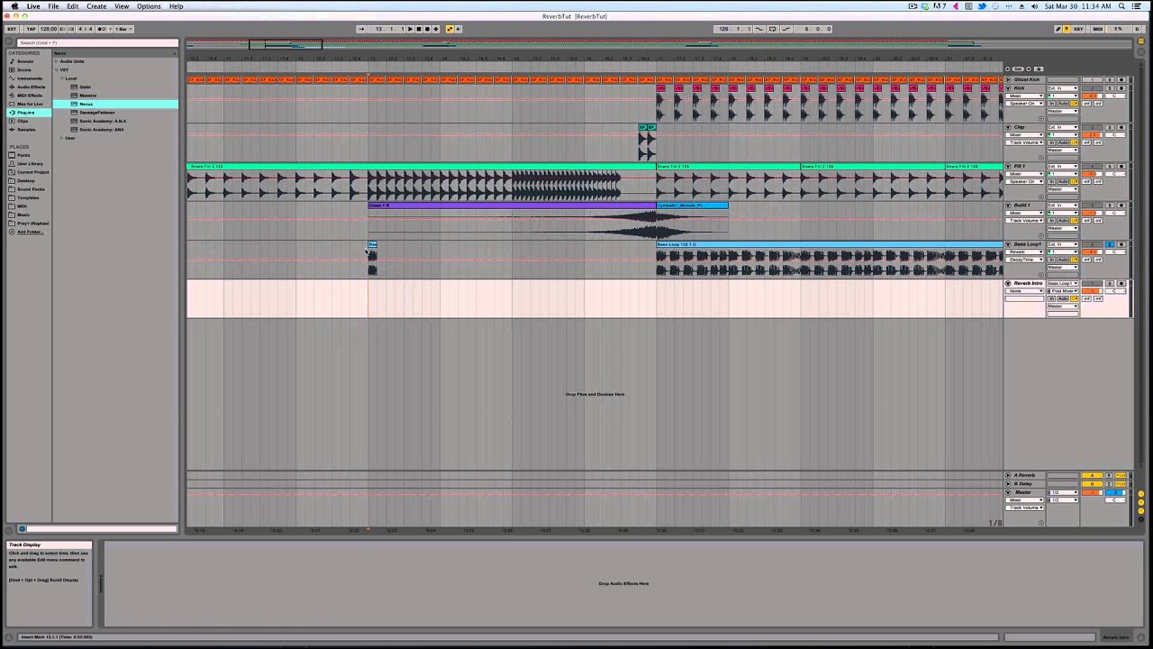 ableton live 9 creating a reverb intro tail youtube. Black Bedroom Furniture Sets. Home Design Ideas