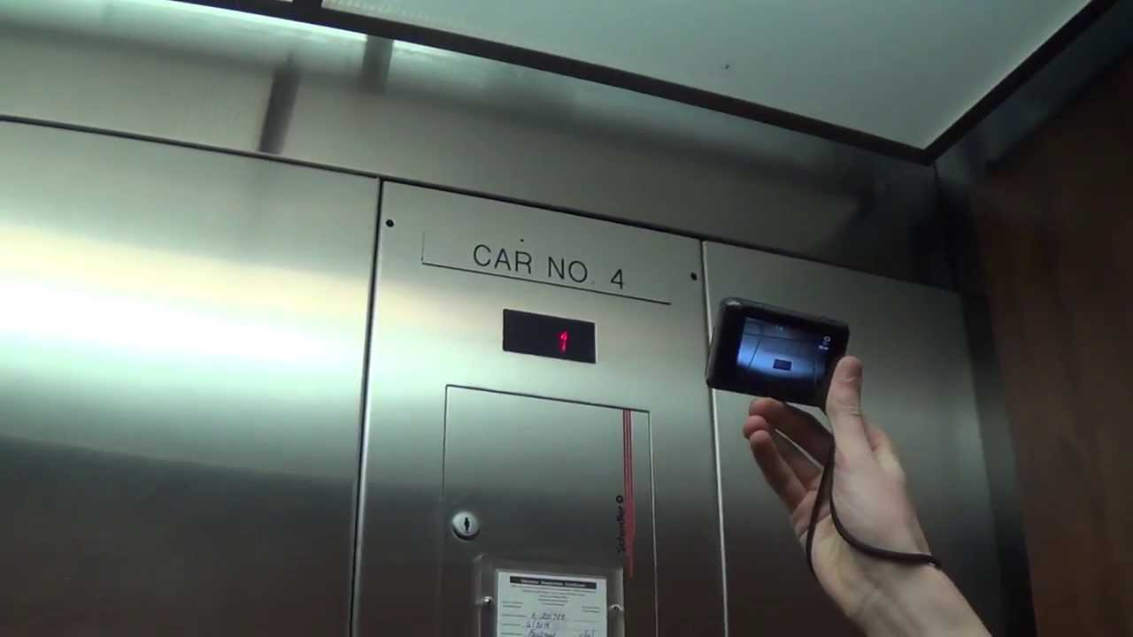 Schindler Hydraulic Parking Deck Elevator At The Hilton Garden Inn Athens  Downtown (w/ Ems318)
