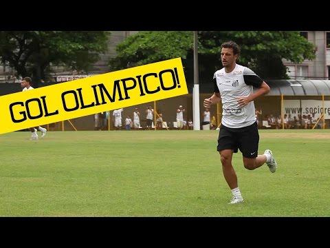 Elano marca GOL OLÍMPICO | Santos 4 x 0 Cotia