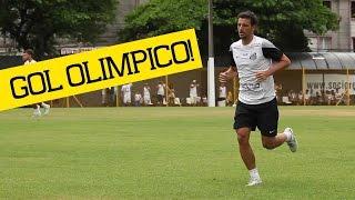 Elano marca GOL OLÍMPICO   Santos 4 x 0 Cotia