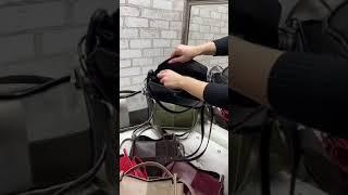 0244 Женская небольшая сумка коссбоди через плечо стильная молодежная натуральная замша экокожа