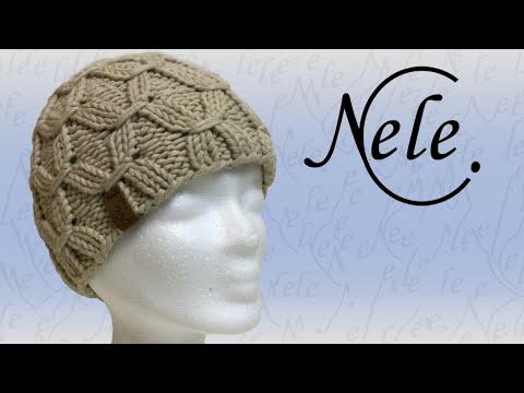 Mütze stricken, Mütze mit Smoke Muster, DIY – Anleitung by Nele C.