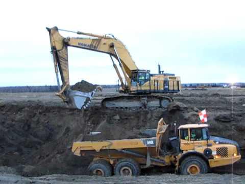 komatsu 1250 excavator youtube