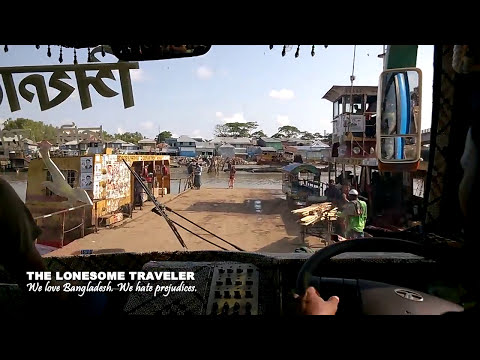 Travelling in Bangladesh. On the road by bus...