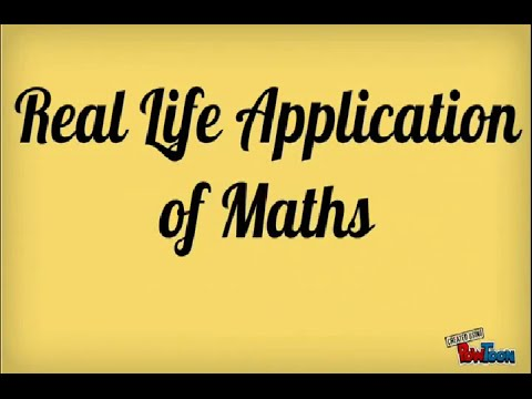 Applications of maths in our daily life.