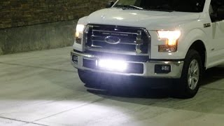 iJDMTOY 2015-up Ford F-150 Lower Bumper LED Light Bar Install