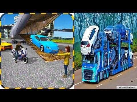 Modern Car Transporter Plane vs Car Transport Euro Truck Simulation Cargo Racing Sports Cars