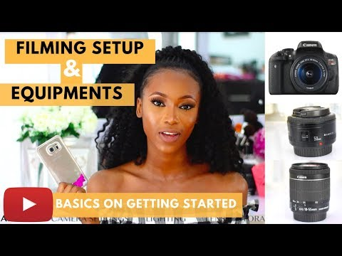 YOUTUBE FILMING SETUP AND EQUIPMENTS FOR BEGINNERS (CAMERA, LIGHTING, CAMERA SETTINGS, AUDIO,)