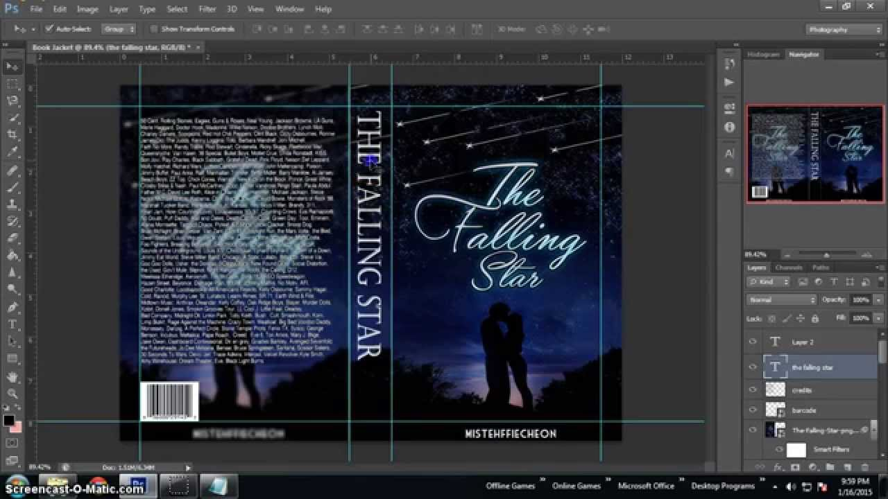 How To Make A Book Jacket Cover On The Computer ~ Photoshop tutorial how to make a book jacket youtube