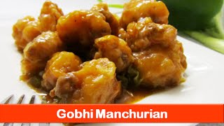 Crunchy Gobi Manchurian Recipe/cauliflower Fritters Starters Appetizers/indian Snacks Food Recipes