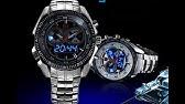bf4f9e2e361 TVG KM 468 Seal Elite Military LED Sports Watch Dual Movement Analog ...
