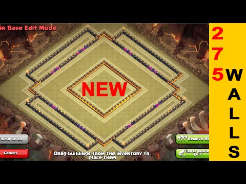 NEW TOWNHALL 10 TROPHY/WAR BASE WITH 275 WALLS | Clash of Clans Base Bulding