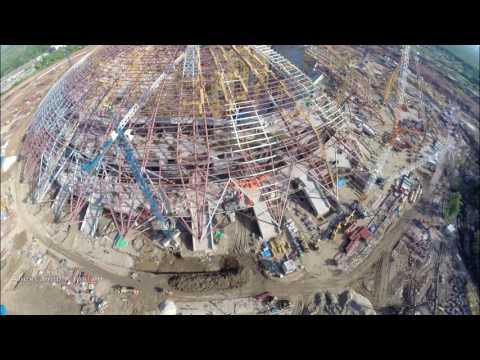 Строительство стадиона в Самаре #СамараАрена #Samara #Russia