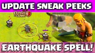 Clash Of Clans Update! ♦ Sneak Peeks! ♦ Earthquake Spell! ♦ No More Dark Elixir  Zapping!