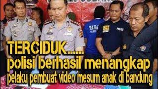 TERCIDUK,,,Polisi akhirnya menangkap pelaku pembuat video porno anak di bandung