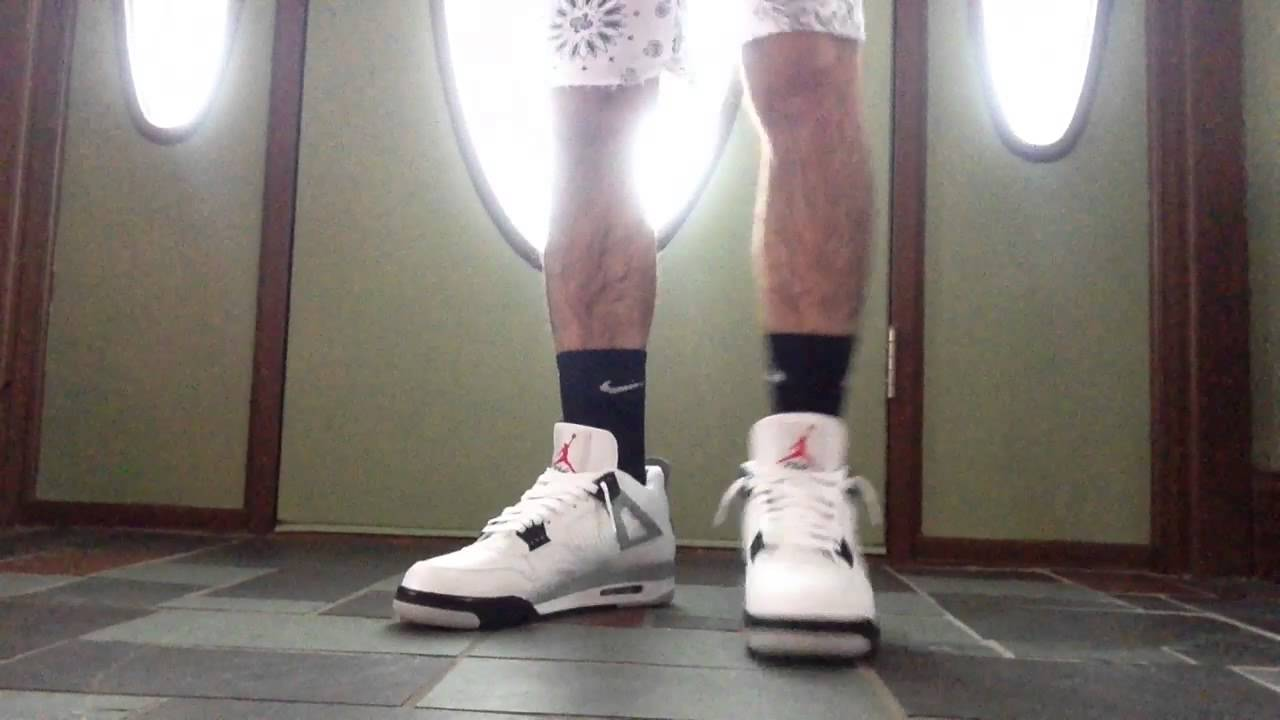 air jordan 4 all white with shorts