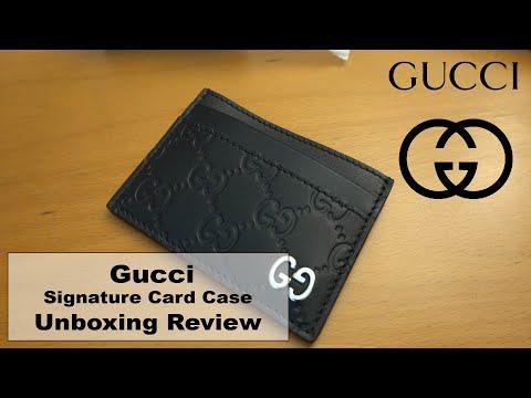 남자 지갑 추천! 구찌 가죽 카드지갑 언박싱! Gucci Mens Wallet Signature Leather Card Case Unboxing!